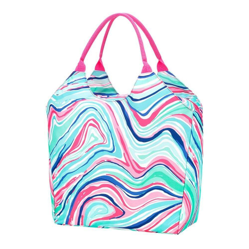 Personalized Summer Tote Bag, Marble