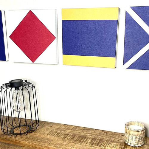 Nautical Signal Flags Wrapped Canvas