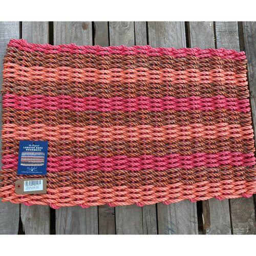 Recycled Lobster Rope Doormat, Style 10, 21x33