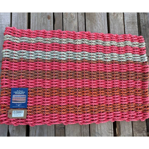 Recycled Lobster Rope Doormat, Style 11, 21x33