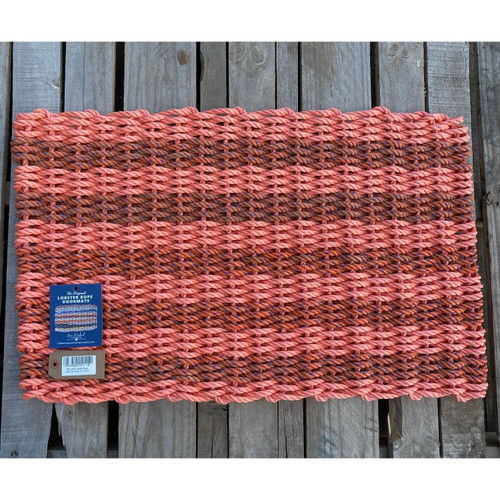 Recycled Lobster Rope Doormat, Style 12, 21x33