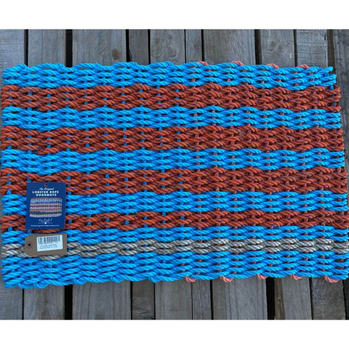 Recycled Lobster Rope Doormat, Style 14, 21x33