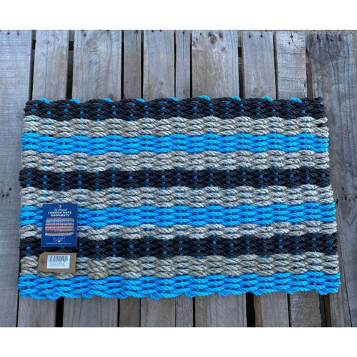 Recycled Lobster Rope Doormat, Style 15, 21x33