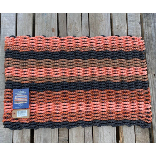 Recycled Lobster Rope Doormat, Style 16, 21x33