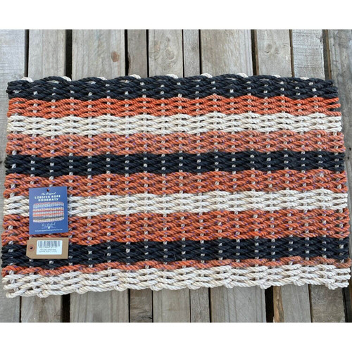 Recycled Lobster Rope Doormat, Style 17, 21x33
