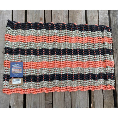 Recycled Lobster Rope Doormat, Style 19, 21x33