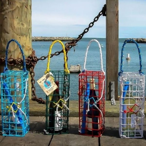 The Wine Trap, Handmade from Authentic Lobster Trap Materials