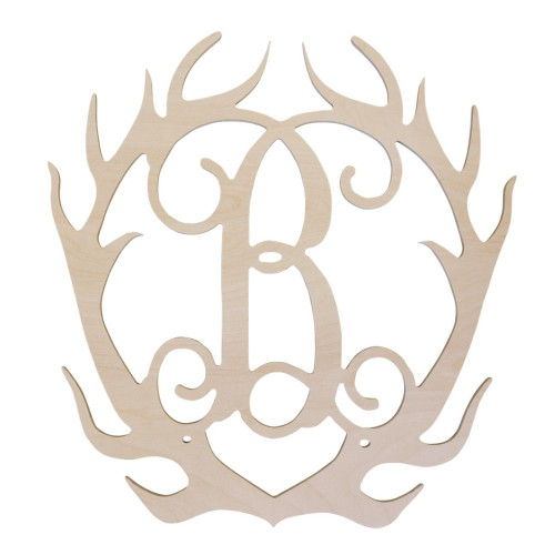 Personalized Wood Sign, Antlers