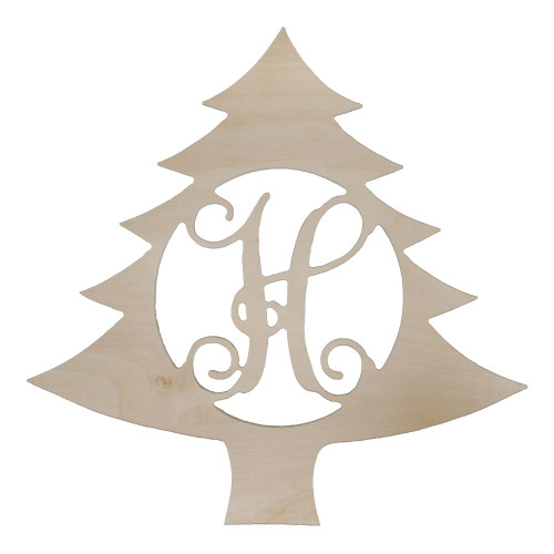 Personalized Wood Sign, Christmas Tree