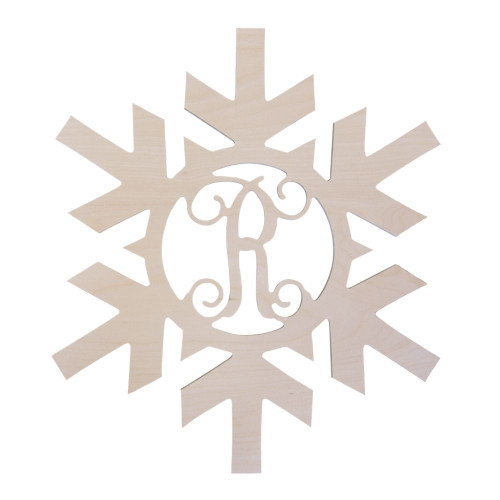 Personalized Wood Sign, Snowflake