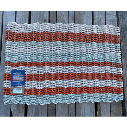 Recycled Lobster Rope Doormat, Style 22, 21x33