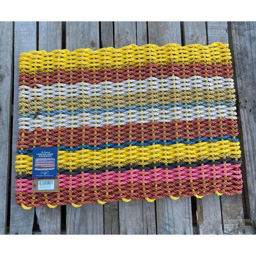 Recycled Lobster Rope Doormat, Style 23, 21x33
