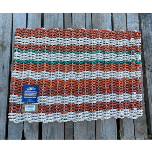 Recycled Lobster Rope Doormat, Style 24, 21x33