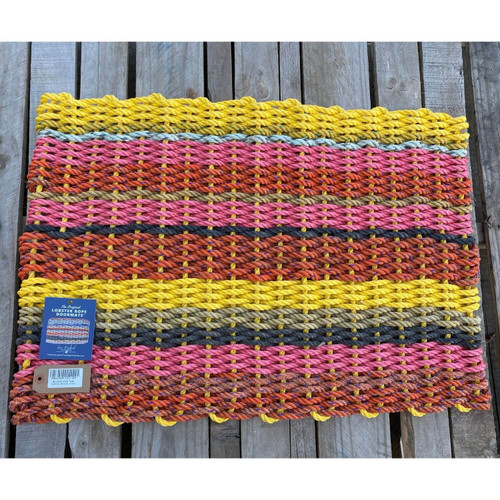 Recycled Lobster Rope Doormat, Style 25, 21x33
