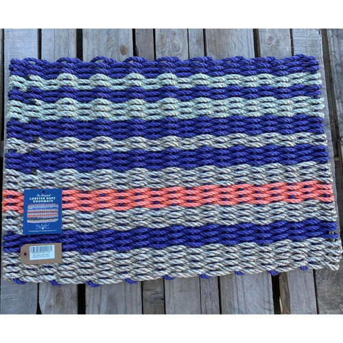 Recycled Lobster Rope Doormat, Style 26, 21x33