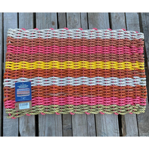 Recycled Lobster Rope Doormat, Style 27, 21x33