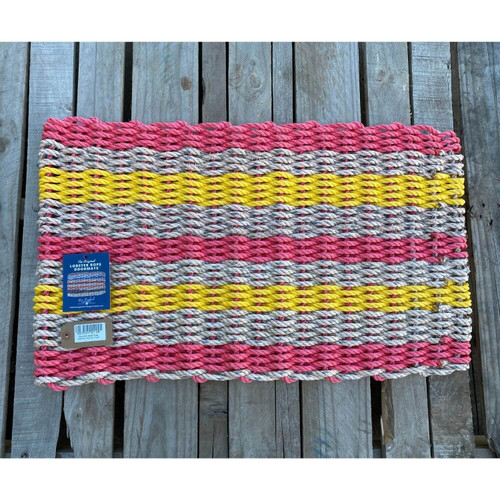 Recycled Lobster Rope Doormat, Style 28, 21x33