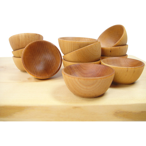 Mini Wooden Pinch Bowls Small Wooden Bowls Set Of 6