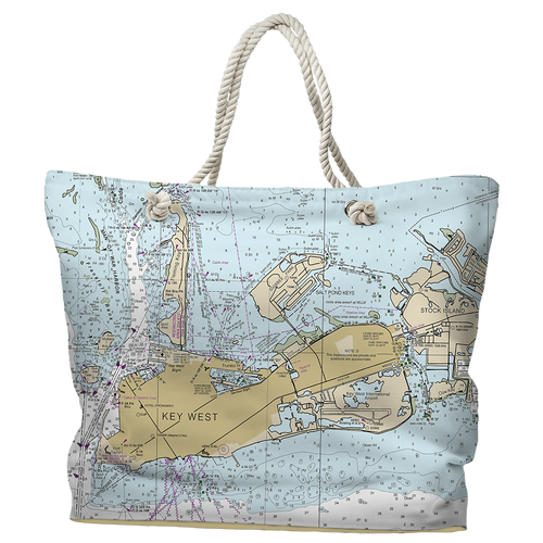 Nautical Chart Tote Bag, 144 Locations Available, Water-Repellent Fabric