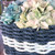 Lobster Rope Basket, Nautical Rope, Navy and Seafoam