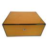Diamond Crown Sol 75-Cigar Desktop Humidor - Havana Collection (DC-HUM-SOL-75) Exterior 1 Key Hole 1