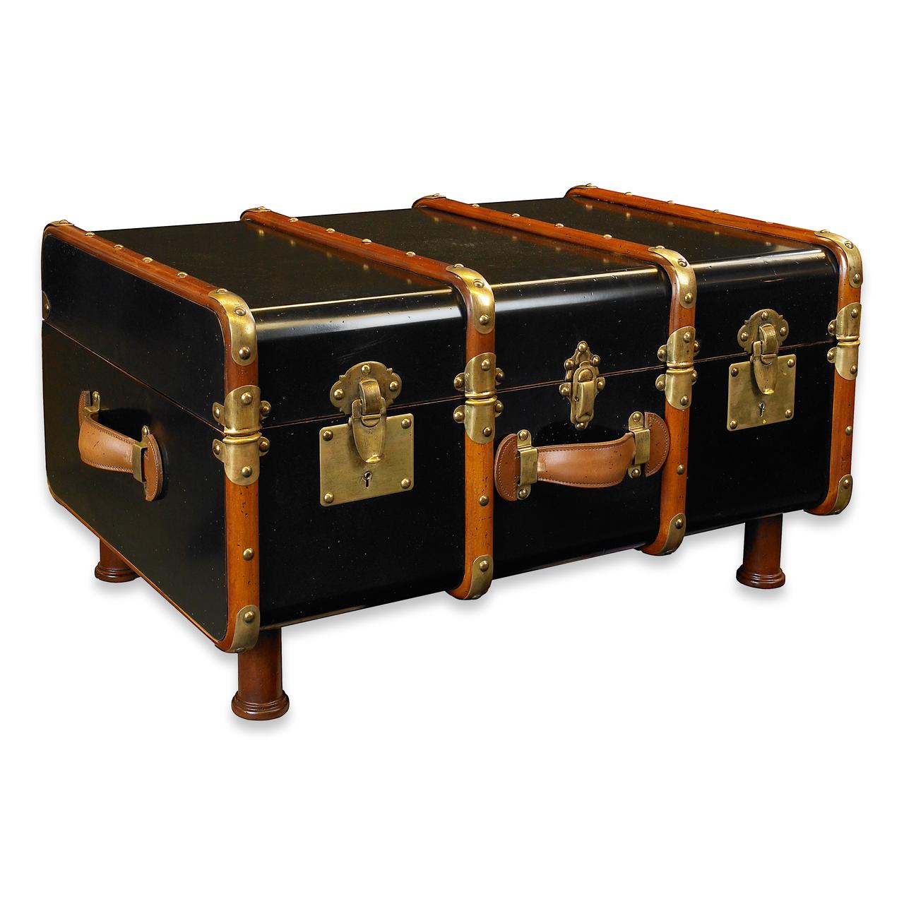 Malle Comme Table Basse table basse de coffre stateroom - noir