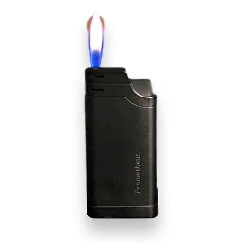 Prometheus Slimline Soft Flame Cigar Lighter - Black Matte - Flame