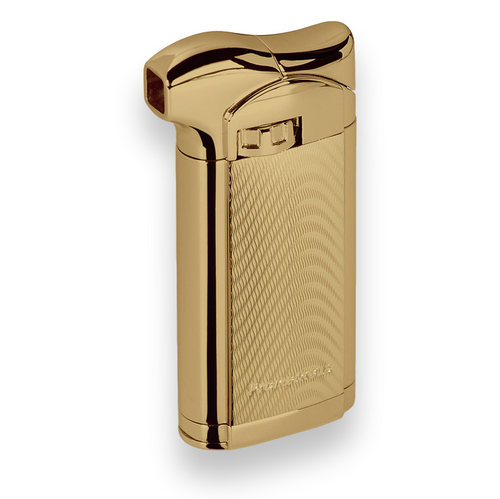 Prometheus Sherlock Soft Flame Cigar Lighter - Gold Wave - Exterior Front