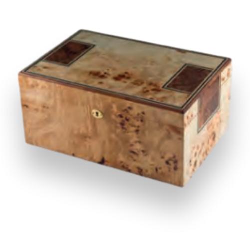 Humidor Supreme Toulouse  175-Cigar Desktop Humidor - Burl