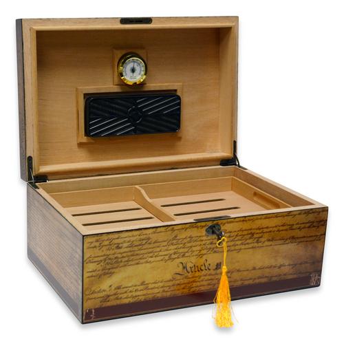Humidor Supreme Constitution 100-Cigar Desktop Humidor