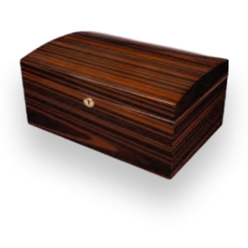 Humidor Supreme Bourbon Street II 125-Cigar Desktop Humidor - Ebony - Exterior Front