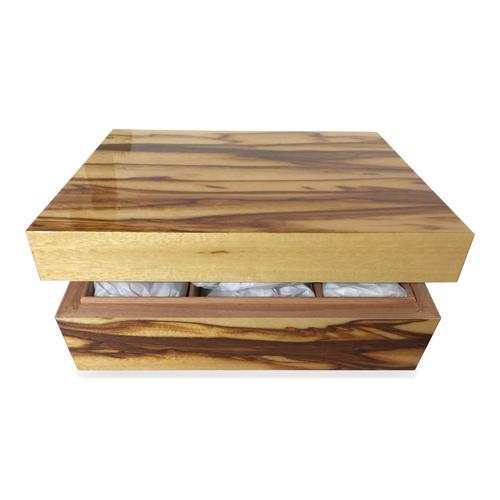 Elie Bleu Samba 75-Cigar Desktop Humidor - Classic Collection - No Lock - Exterior Front