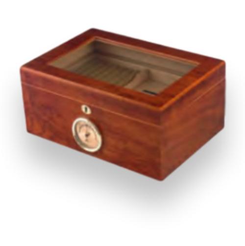 Humidor Supreme Bally 100-Cigar Desktop Humidor - Bubinga - Exterior Front