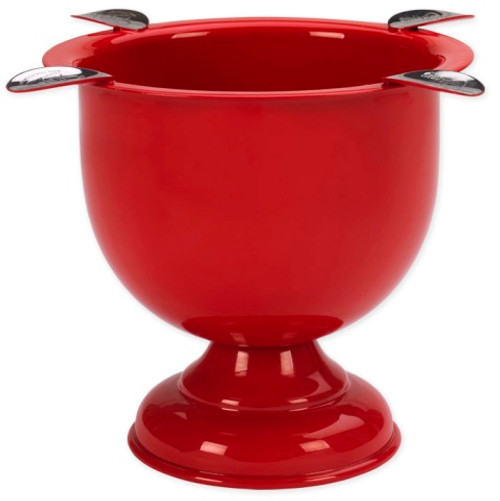 Tall Powder Coated Ashtray - Fire Engine Red