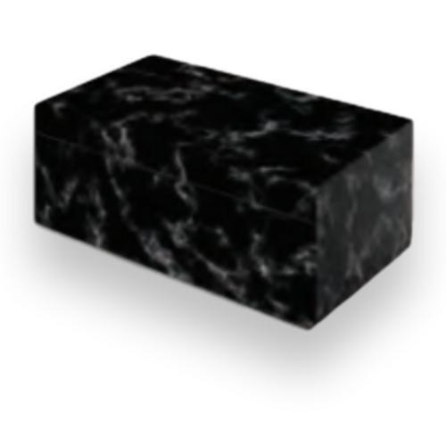 Humidor Supreme Black Marble 25-Cigar Desktop Humidor  - Exterior Front