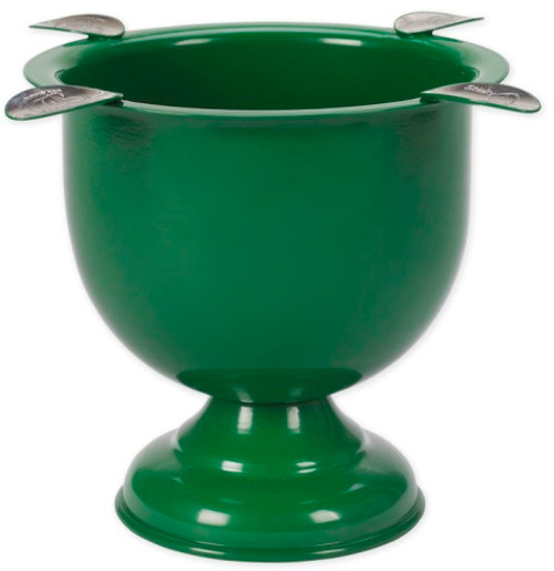 Tall Powder Coated Ashtray - Forest Green