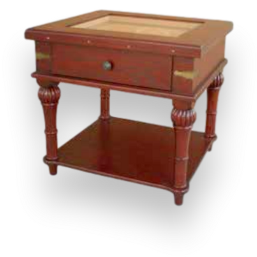 Humidor Supreme Scottsdale 300-Cigar Furniture Humidor - Oak with Cherry - Exterior Front