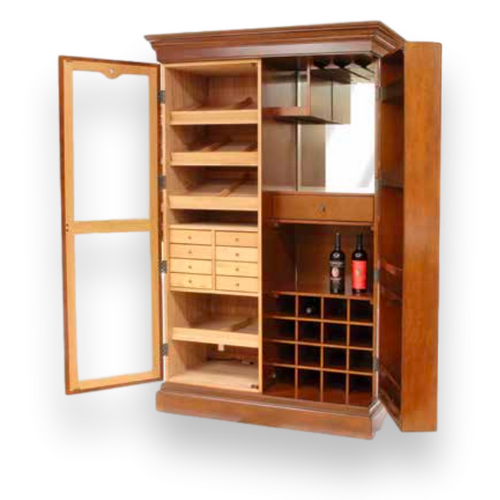Humidor Supreme Weinregal 3000-Zigarrenschrank Humidor - Walnuss - Interieur