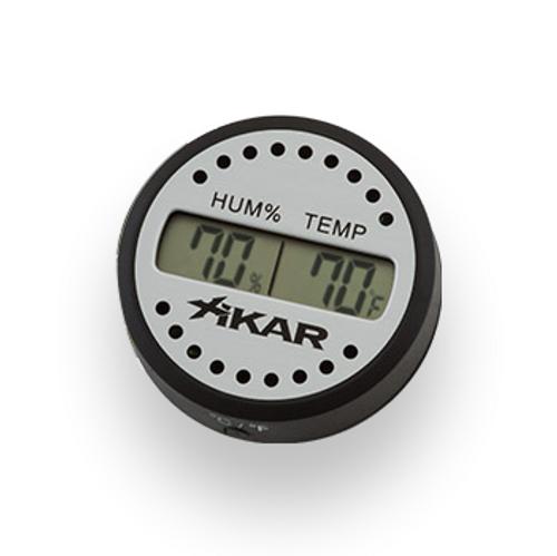 Xikar Round Digital Hygrometer  - Exterior Front