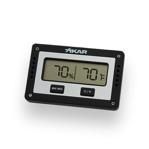 Xikar Rectangular Digital Hygrometer  - Exterior Front