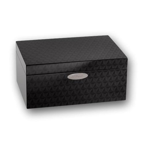 ST Dupont Firehead 75-Zigarren-Desktop-Humidor - Schwarz - Außenfront
