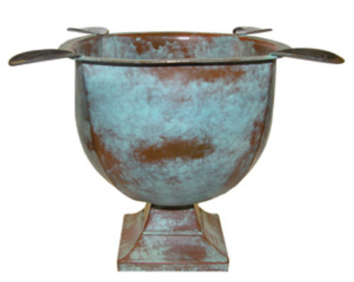 """Old World"" Series Box-Pressed Cigar Ashtray - Patina Copper"