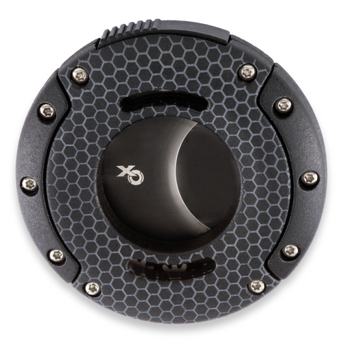 Xikar XO Special Finish Guillotine Double-Blade Cigar Cutter - Black Honeycomb - Exterior Front