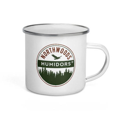Northwoods Humidors Enamel Mug - Side