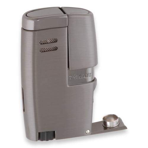Xikar Vitara Torch Flame Double Jet Cigar Lighter - G2 - Exterior Front with Punch