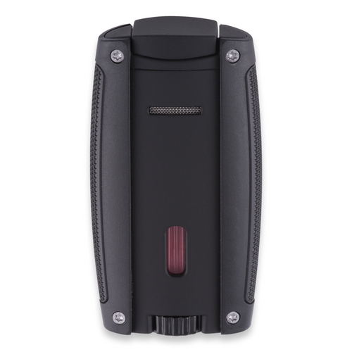 Xikar Turismo Torch Flame Double Jet Cigar Lighter - Matte Black - Exterior Back Side