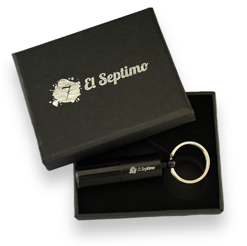 El-Septimo Classic Black Guillotine Double-Blade Cigar Puncher  - Exterior Front