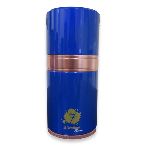 El-Septimo Small 4-Cigar Tube - Sapphire - Exterior Front
