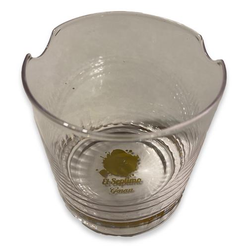 El-Septimo Cigar Whiskey Glass - Logo Bottom - Exterior Rim