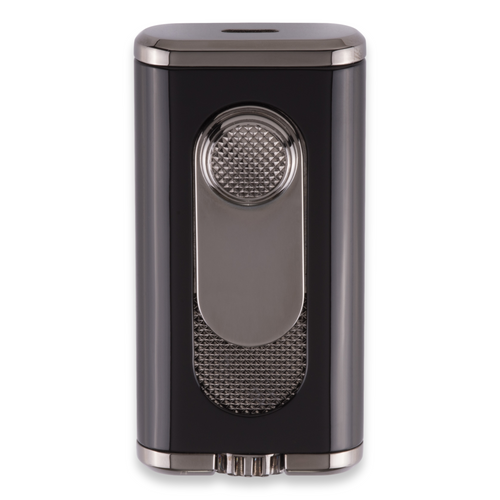 Xikar Verano Flat Torch Flame Cigar Lighter - Black - Exterior Front